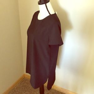 [LOFT] NWT Professional Black Tunic Blouse Medium